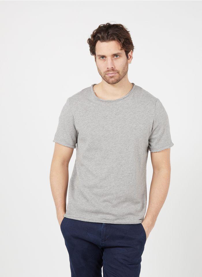 AMERICAN VINTAGE Rundhals-T-Shirt aus Baumwolle, Regular Fit in Grau