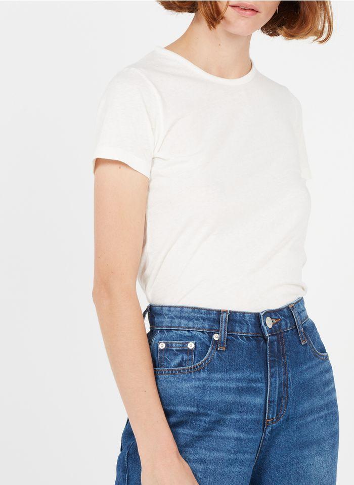 AMERICAN VINTAGE Rundhals-T-Shirt aus Baumwolle in Weiß