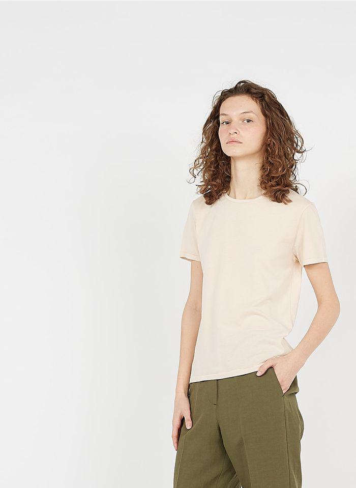 AMERICAN VINTAGE Rundhals-T-Shirt aus Bio-Baumwolle in Beige