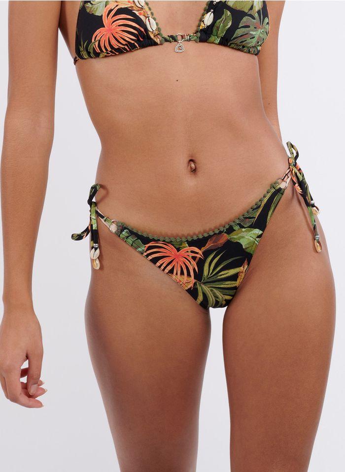 BANANA MOON Bedruckte Bikinihose in Schwarz