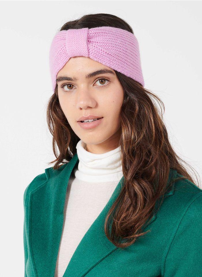 BECKSONDERGAARD Stirnband aus Wolle und Kaschmir in Violett