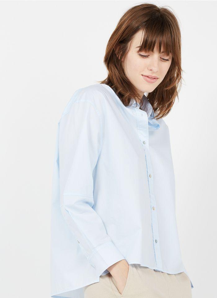 BELLA JONES Bluse aus Baumwoll-Popeline mit klassischem Kragen in Blau