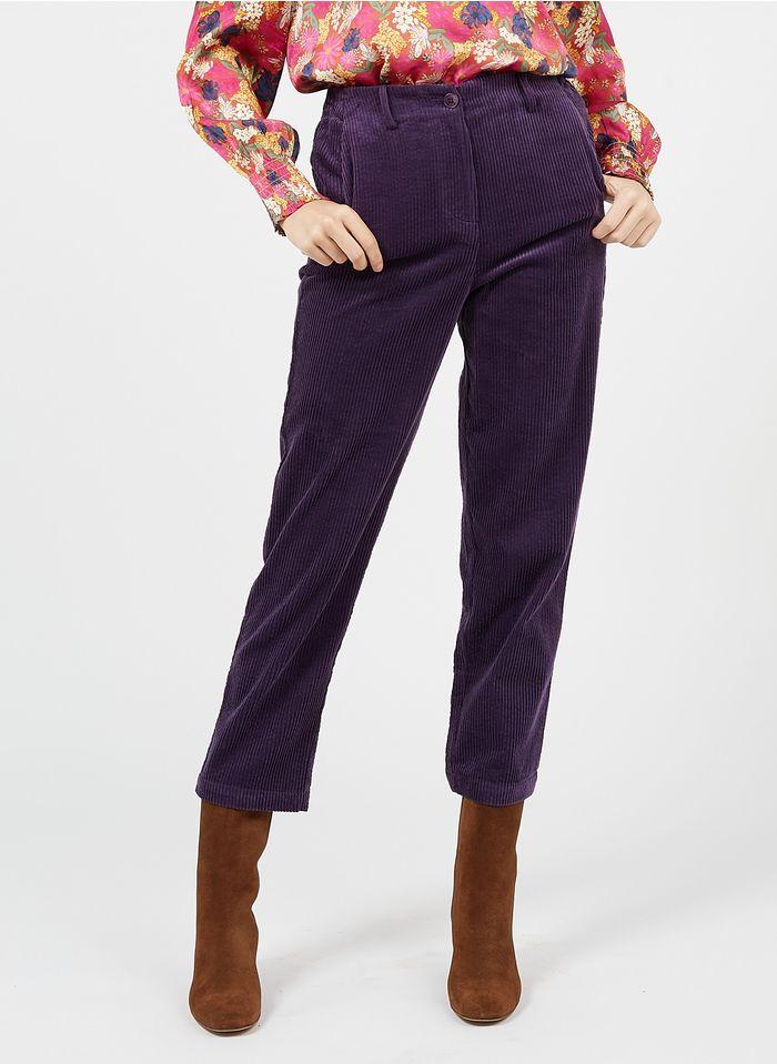BELLA JONES Gerade geschnittene Cordhose in Violett