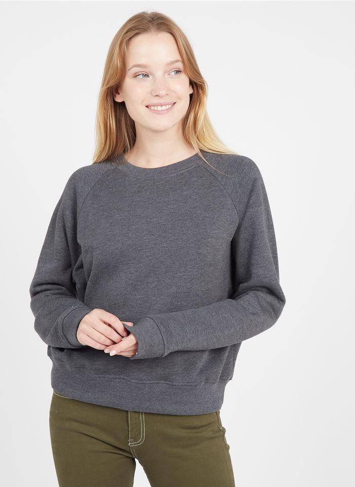 BERENICE Rundhals-Sweatshirt aus Baumwoll-Mix in Schwarz