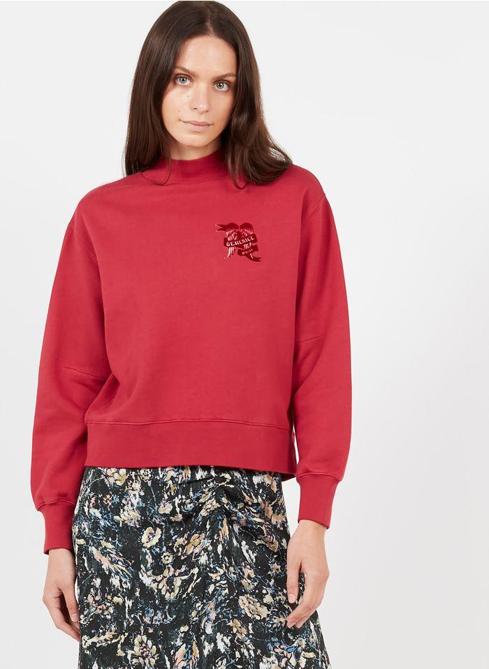 BERENICE Sweatshirt aus Baumwolle mit Stehkragen in Rot