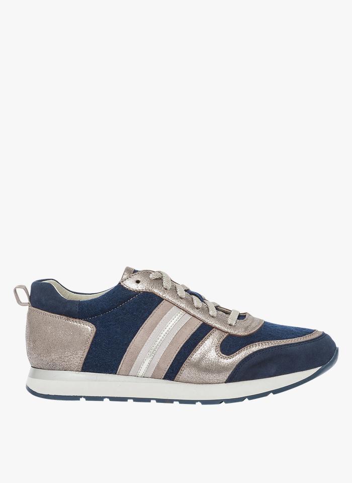 BOCAGE Ledersneaker in Blau