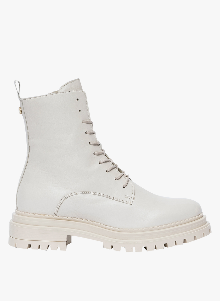BOCAGE Lederstiefel in Weiß