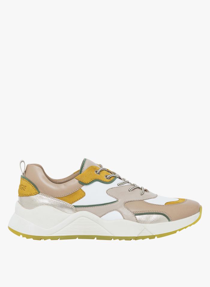 BOCAGE Niedrige Ledersneaker in Beige