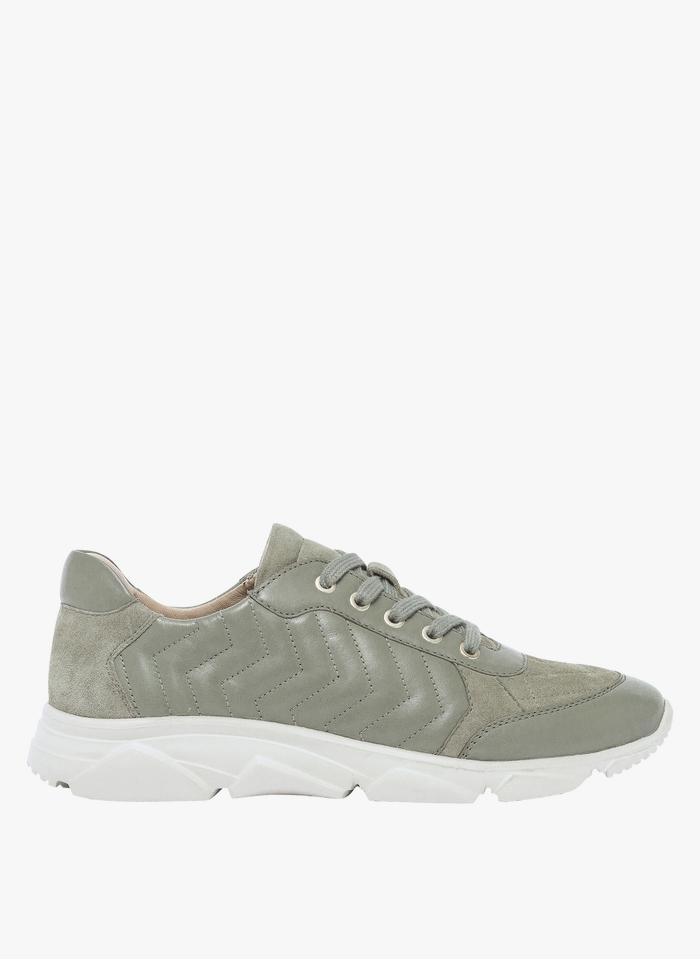 BOCAGE Niedrige Sneaker aus Material-Mix in Grün