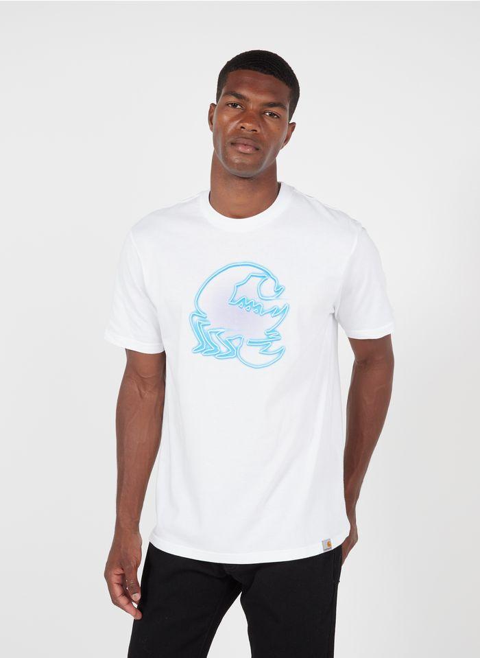 CARHARTT WIP Bedrucktes Rundhals-T-Shirt aus Baumwolle, Regular Fit in Weiß