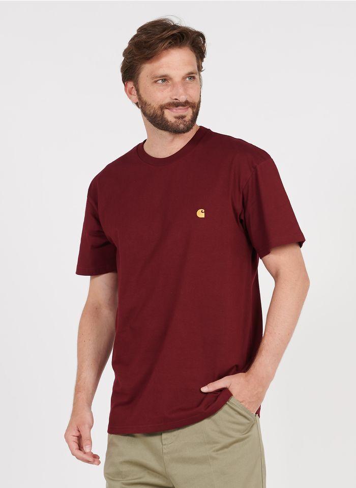 CARHARTT WIP Rundhals-T-Shirt aus Baumwolle mit Logo, Loose Fit in Rot