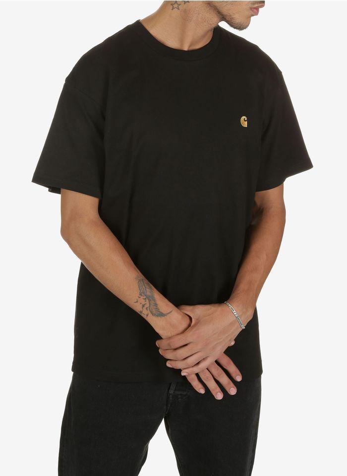 CARHARTT WIP Rundhals-T-Shirt aus Baumwolle mit Logo, Loose Fit in Schwarz