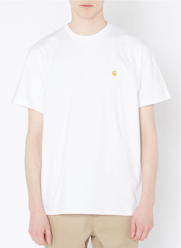 CARHARTT WIP Rundhals-T-Shirt aus Baumwolle mit Logo, Loose Fit in Weiß