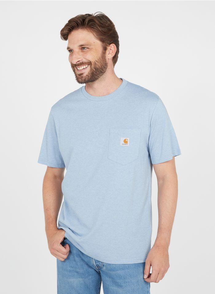 CARHARTT WIP Rundhals-T-Shirt aus Baumwolle, Regular Fit in Blau