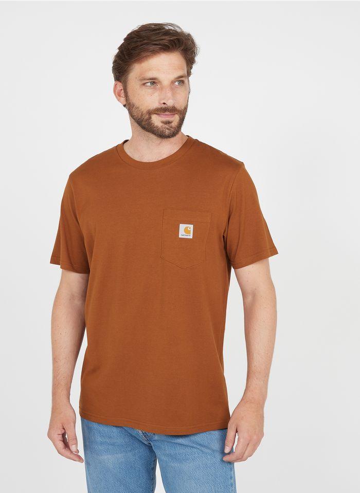 CARHARTT WIP Rundhals-T-Shirt aus Baumwolle, Regular Fit in Braun