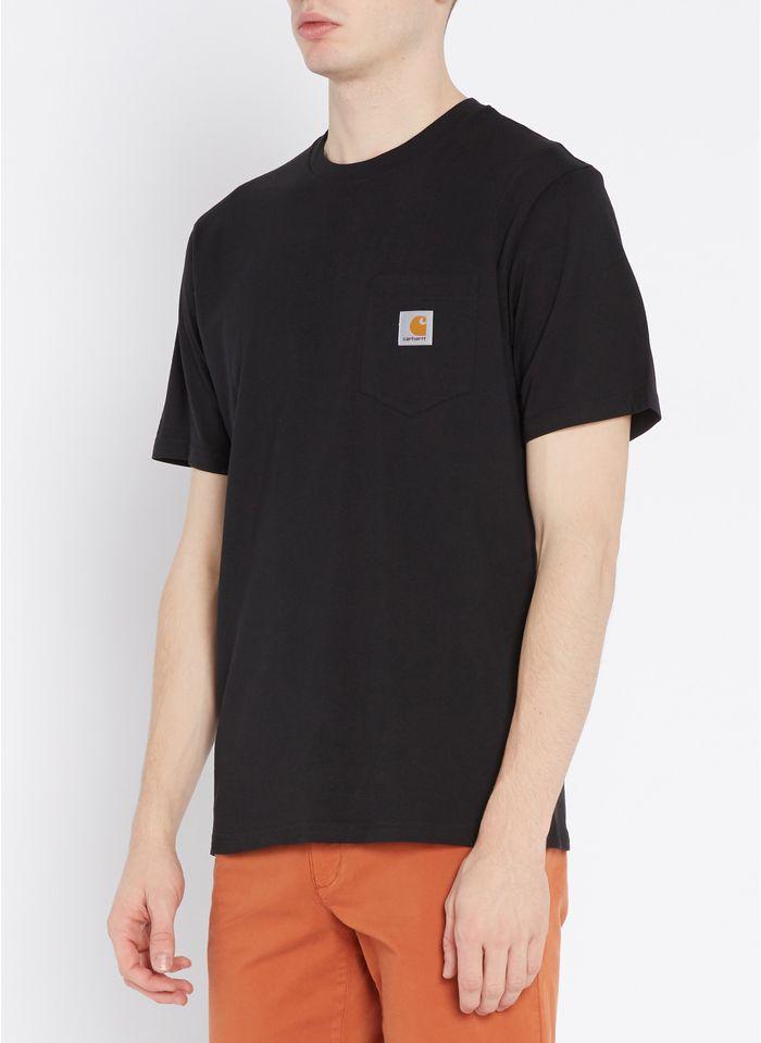 CARHARTT WIP Rundhals-T-Shirt aus Baumwolle, Regular Fit in Schwarz