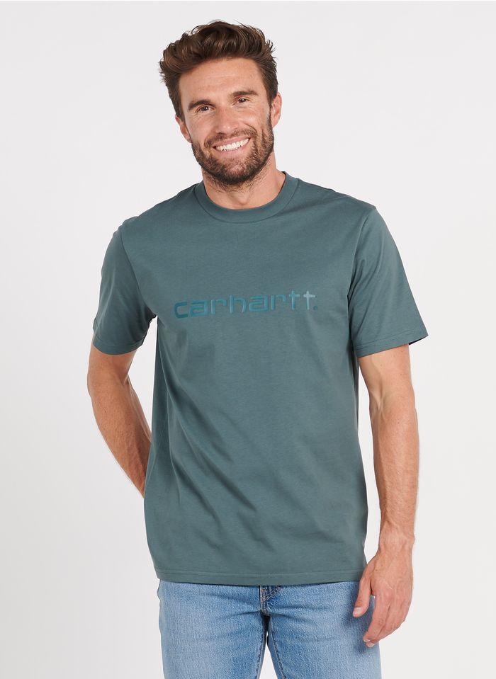 CARHARTT WIP Rundhals-T-Shirt aus Baumwolle, Regular Fit in Grün
