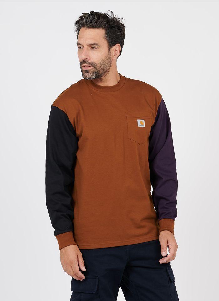 CARHARTT WIP T-Shirt aus Bio-Baumwolle in Braun