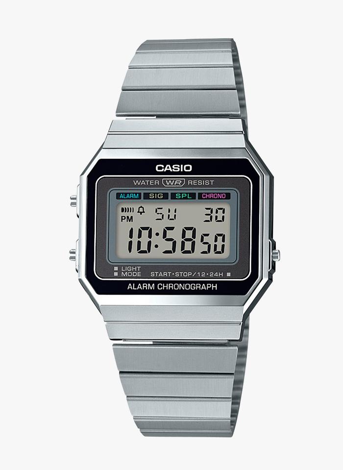 CASIO VINTAGE Casio Vintage - Armbanduhr aus Stahl in Grau