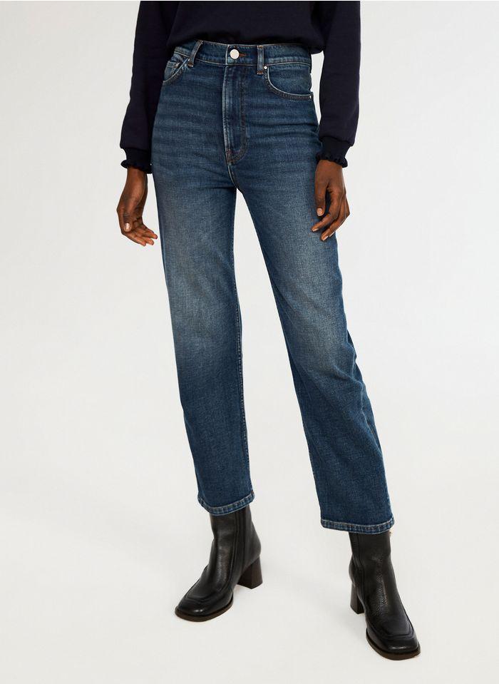 CLAUDIE PIERLOT Straight Cut Jeans aus Raw Denim in Bleached Jeans