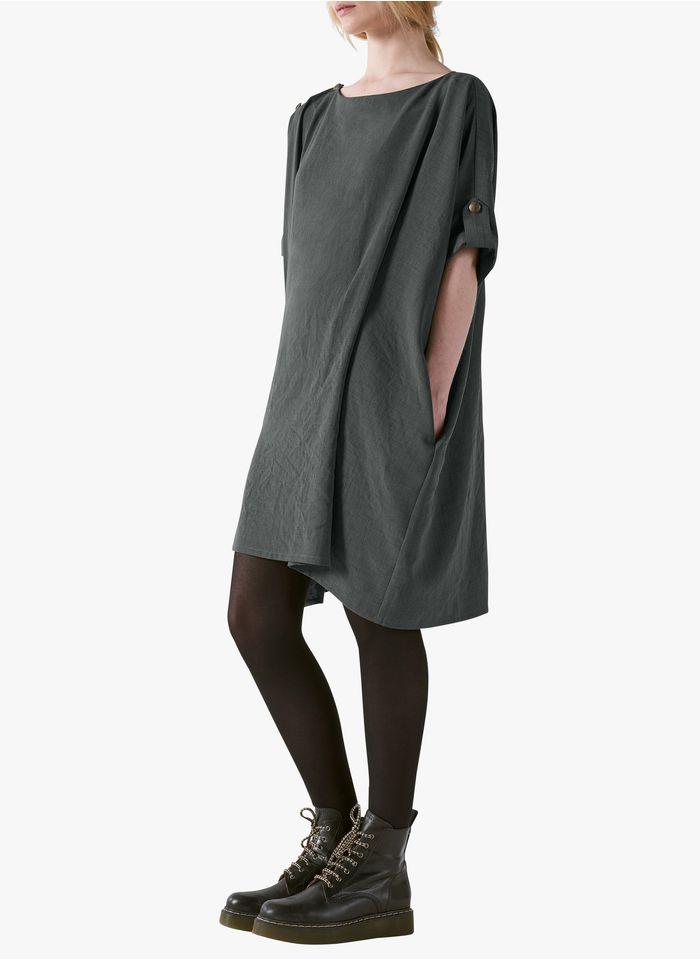 COTELAC Oversize-Kleid mit U-Boot-Ausschnitt in Grau