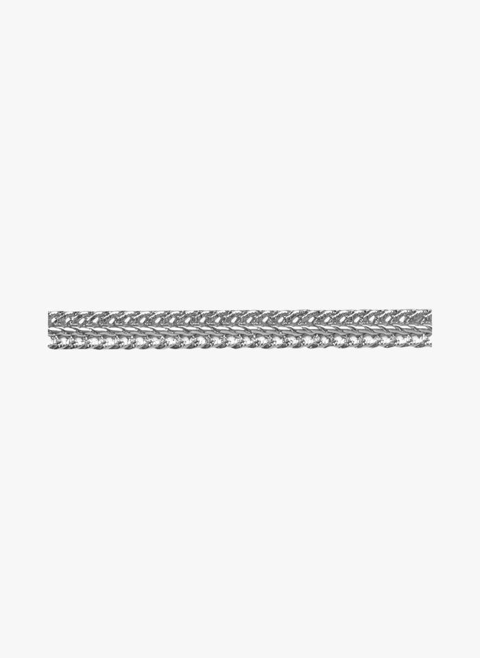 EMMA & CHLOE Geflochtenes Kettenarmband aus Messing in Silber