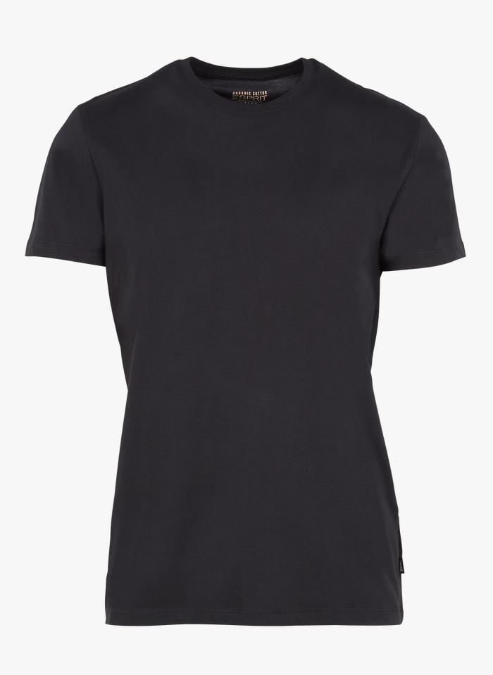 ESPRIT Rundhals-T-Shirt aus Bio-Baumwolle, Regular Fit in Schwarz