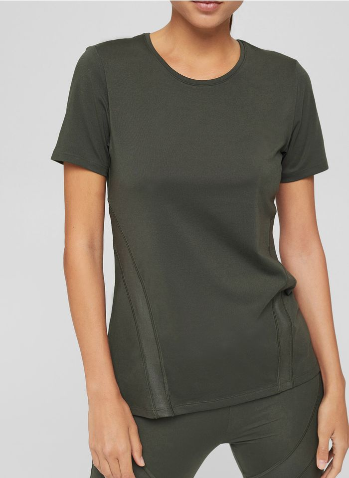 ESPRIT Rundhals-T-Shirt in Khaki