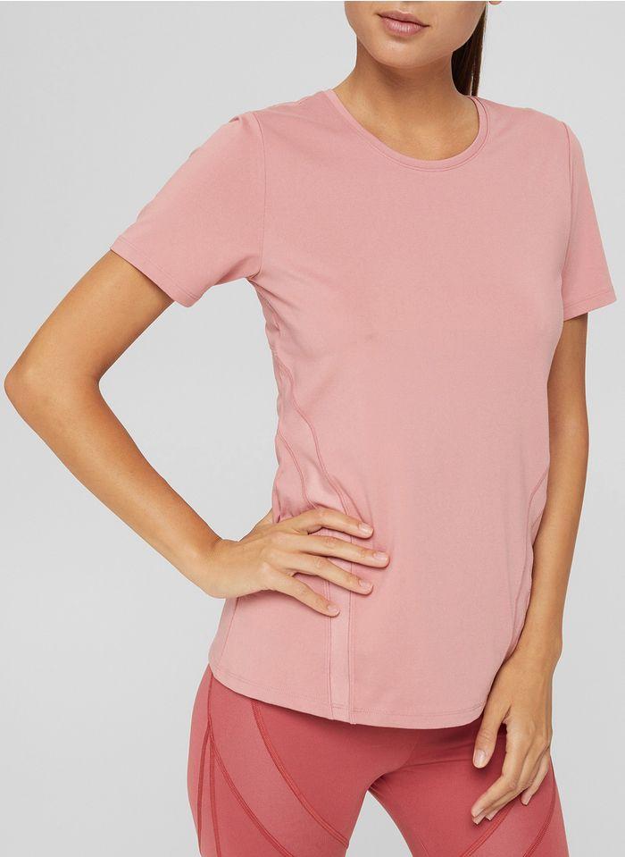 ESPRIT Rundhals-T-Shirt in Rosa