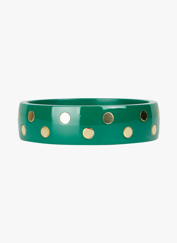 FEEKA Acetat-Armband mit Punkten in Grün