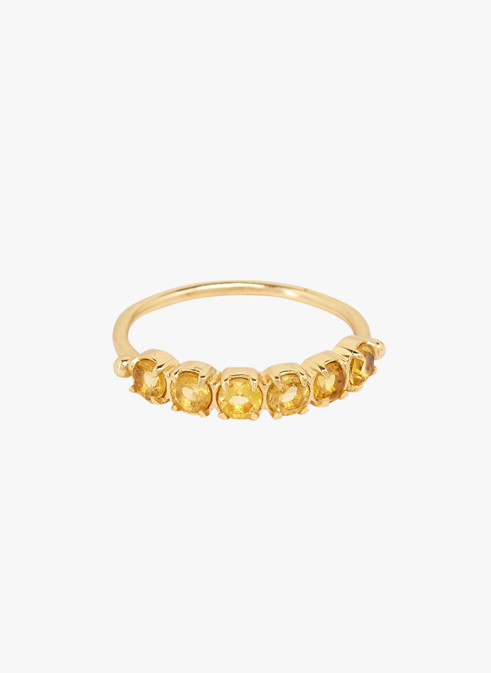 FEEKA Ring mit Steinen in Gelb