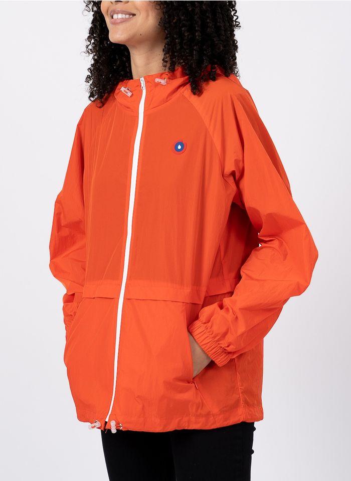 FLOTTE In eine Tasche umwandelbarer Anorak mit Kapuze in Orange