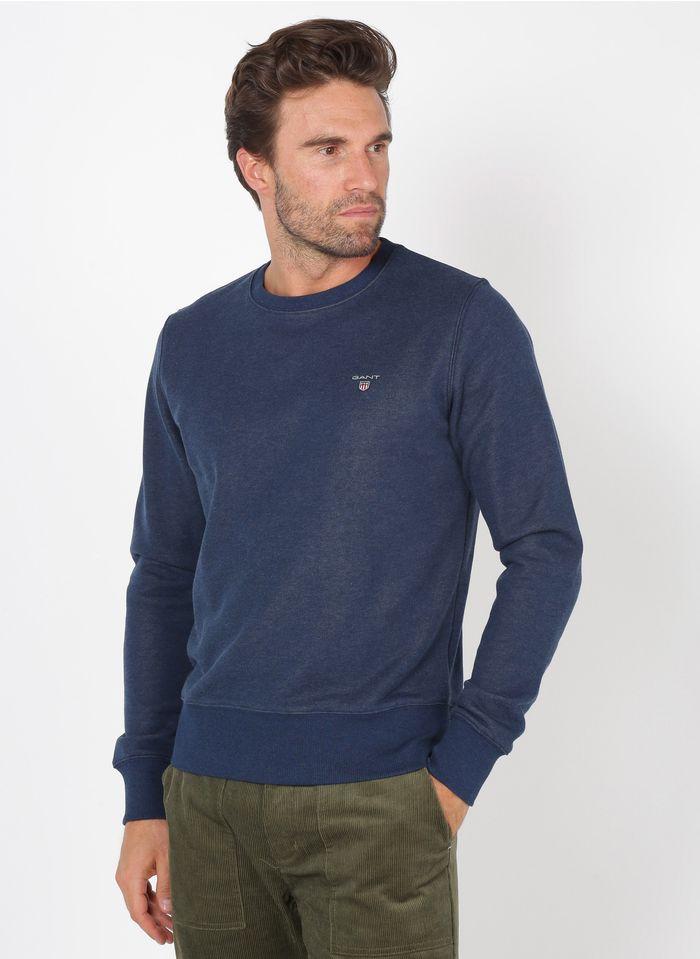 GANT Rundhals-Sweatshirt aus Baumwoll-Mix, Regular Fit in Blau