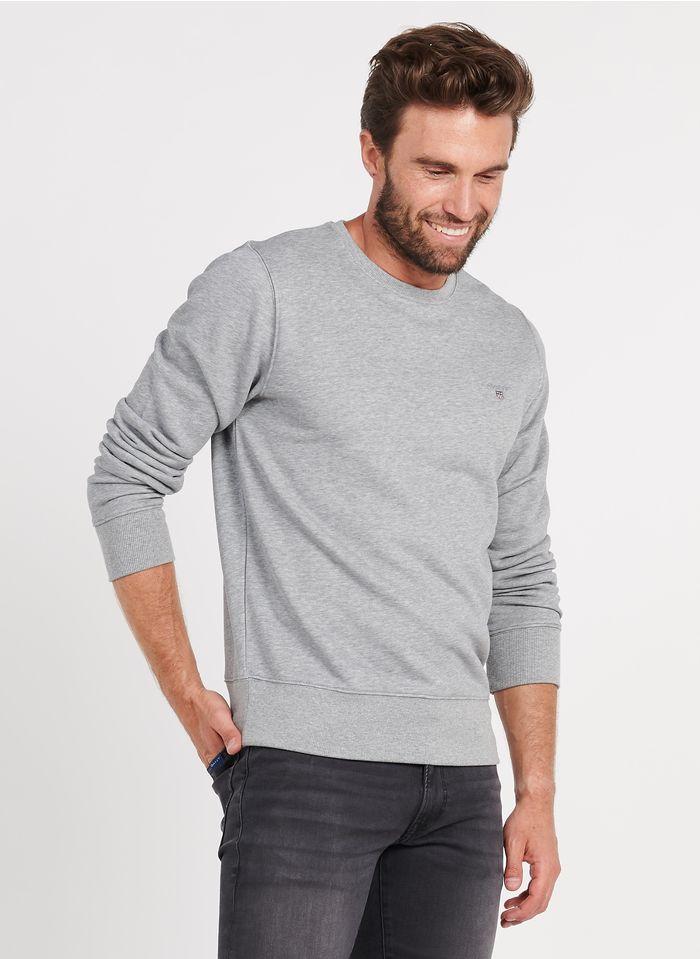 GANT Rundhals-Sweatshirt aus Baumwoll-Mix, Regular Fit in Grau