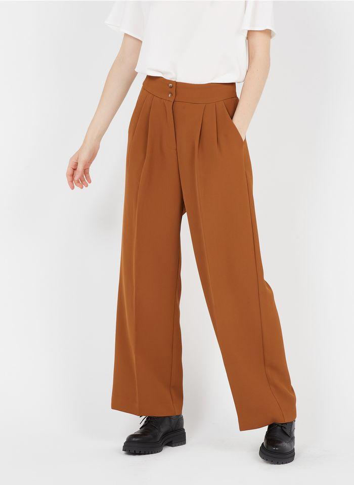 GRACE ET MILA Pantalon large à pinces in Beige
