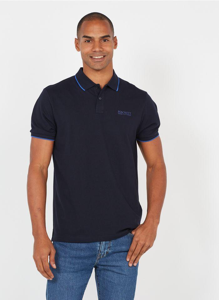 HACKETT Poloshirt aus Baumwoll-Mix, Regular Fit in Blau