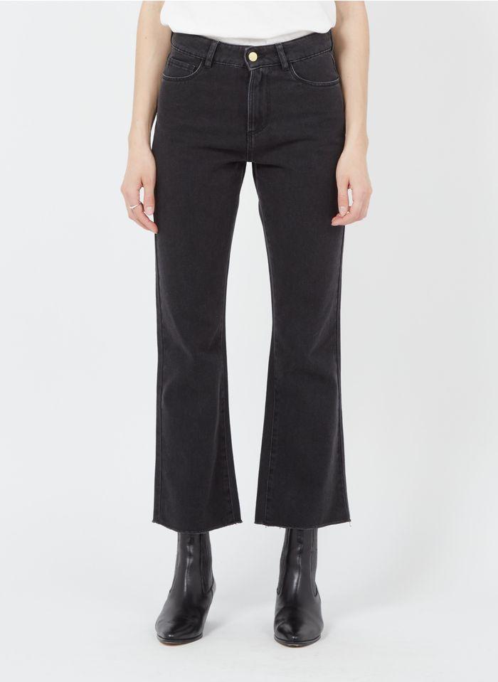 I CODE Flared High Waist Jeans in Grau
