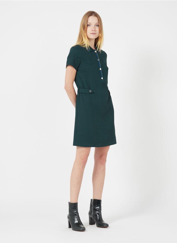 I CODE Kurzkleid mit klassischem Kragen in Grün