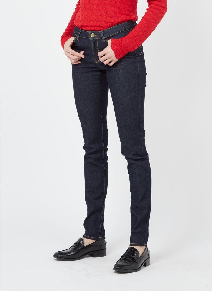 I CODE Slim Fit Jeans aus Raw Denim in Blau