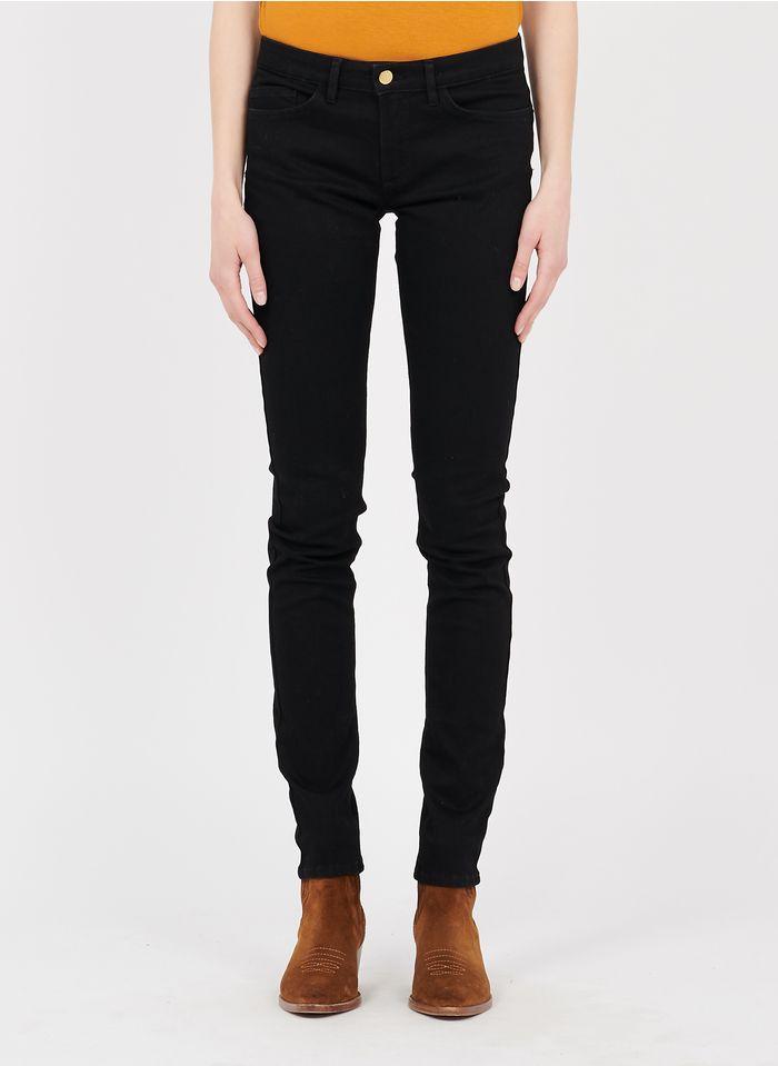 I CODE Slim Fit Jeans aus Raw Denim in Schwarz
