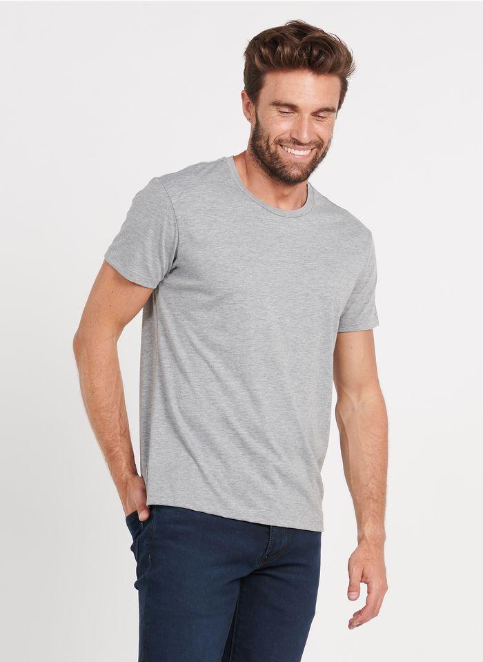 IKKS Rundhals-T-Shirt aus Baumwoll-Mix, Regular Fit in Grau