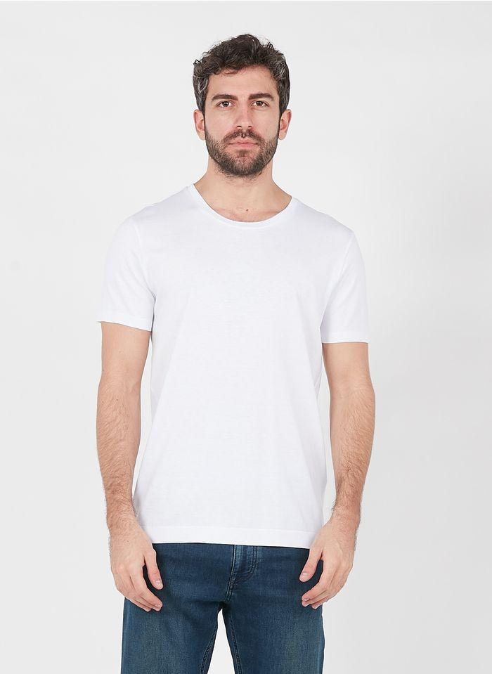 IKKS Rundhals-T-Shirt aus Baumwoll-Mix in Weiß