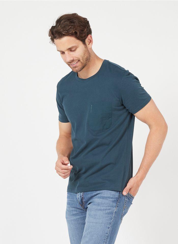 IKKS Rundhals-T-Shirt mit Stickerei in Blau