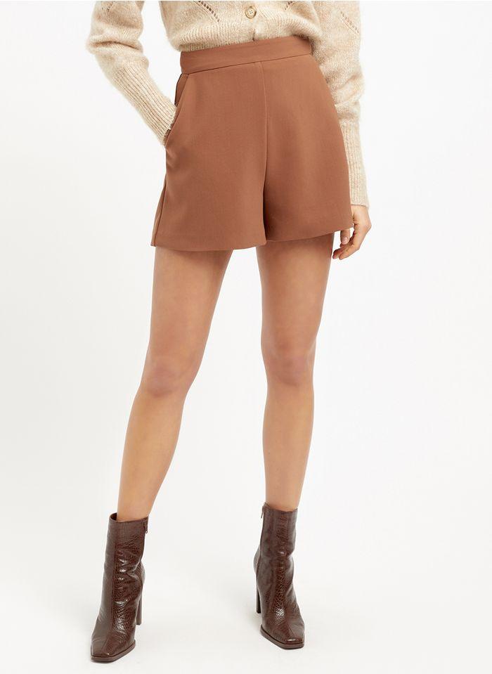 KOOKAI Gerade geschnittene Shorts in Braun