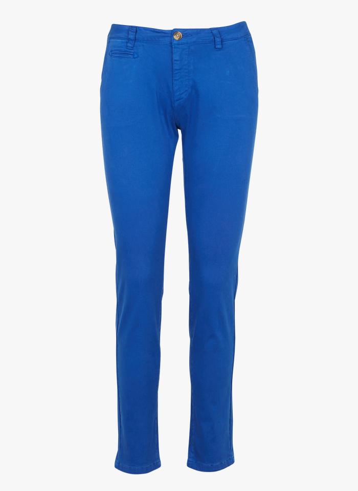 LAB DIP Chinohose aus Stretch-Baumwolle in Blau