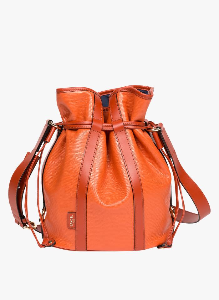 LANCEL Beuteltasche aus Leder in Orange