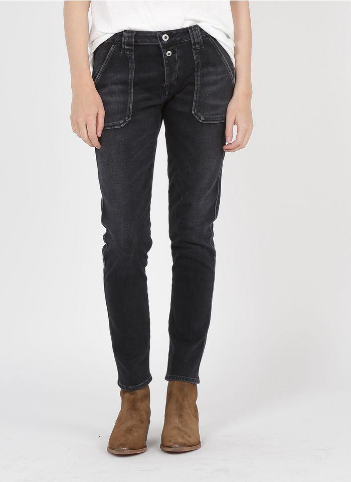LE TEMPS DES CERISES Boyfriend Jeans in Schwarz