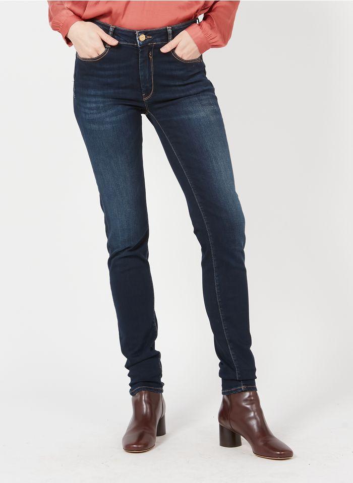LE TEMPS DES CERISES High Waist Slimfit-Jeans in Stone-bleached Jeans