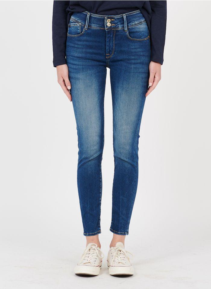 LE TEMPS DES CERISES Skinny-Jeans aus Stretch-Baumwolle mit 5 Taschen in Blau