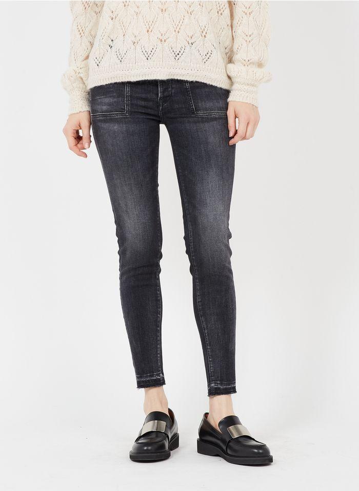 LE TEMPS DES CERISES Skinny Jeans in Schwarz